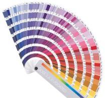 PMS kleuren waaier