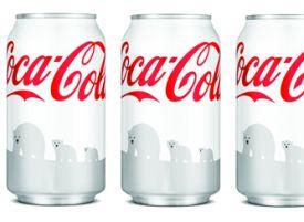 Coca-Cola blikjes voor witte ijsberen
