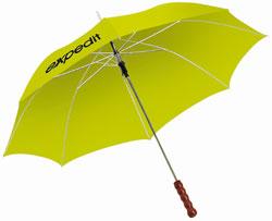 Gele opvallende paraplu