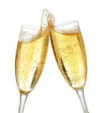 champagneglazen voor NYE