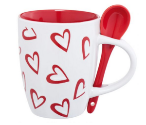 Koffiebeker met lepel -Loveland