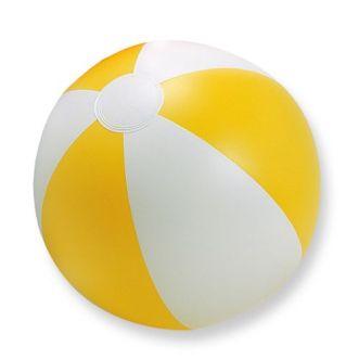 Gele strandbal bedrukken