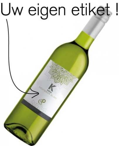 Witte wijnetiket maken